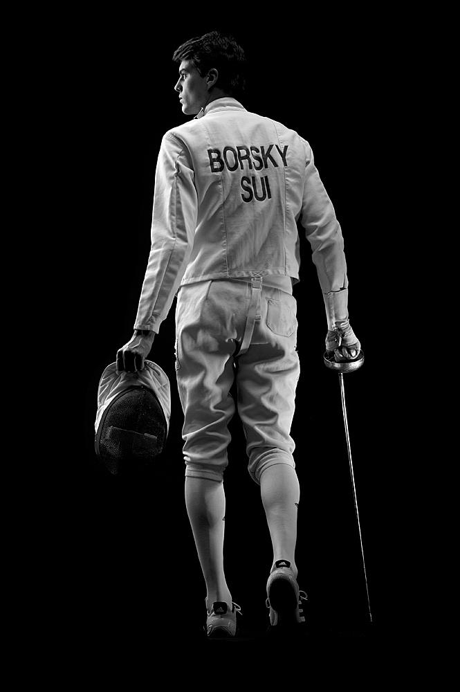Der Schweizer Fechter Peer Borsky © Mallaun Photography