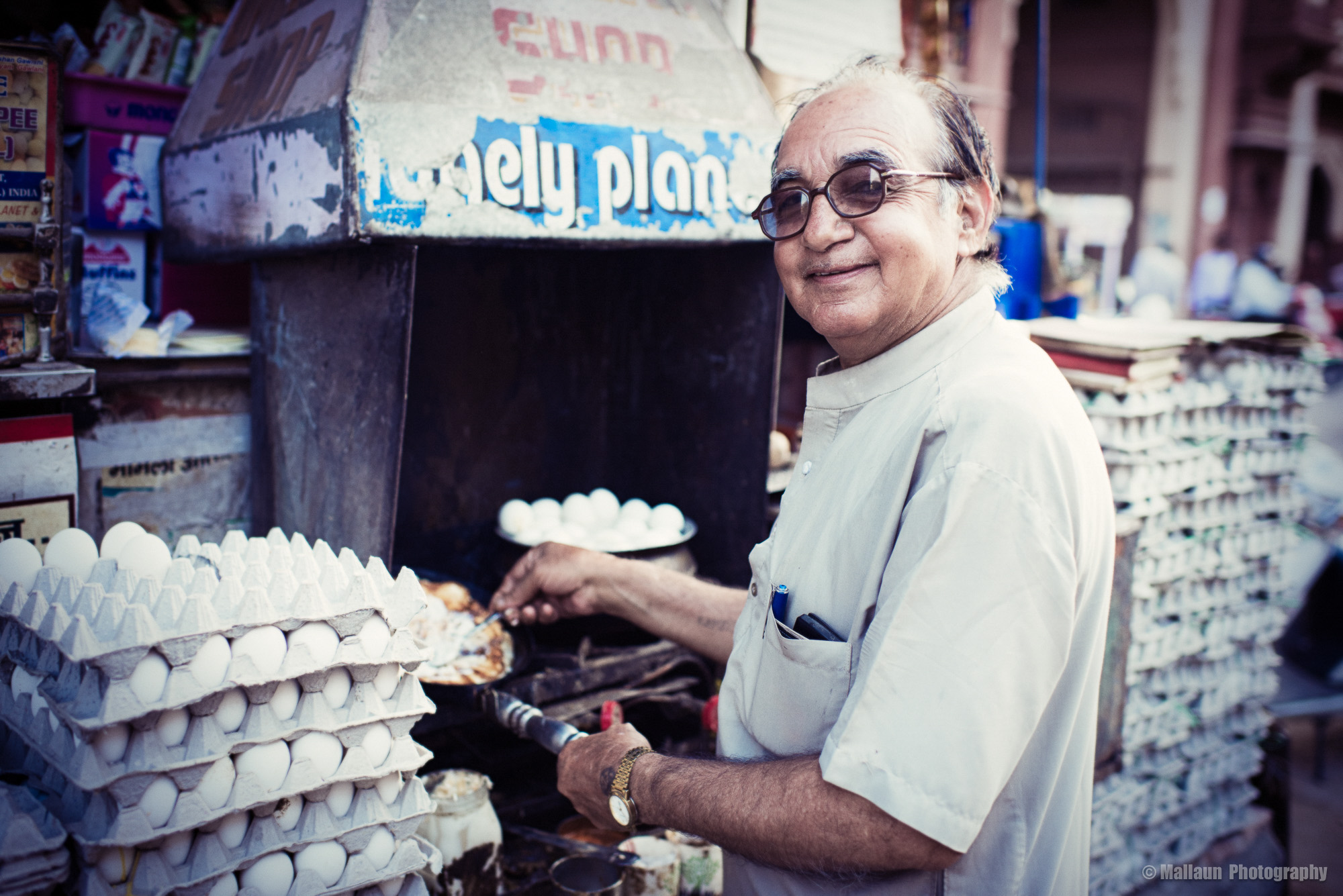 5'000 Eier verbraucht Ramkishan Gawlani pro Tag in der Hochsaison © Mallaun Photography
