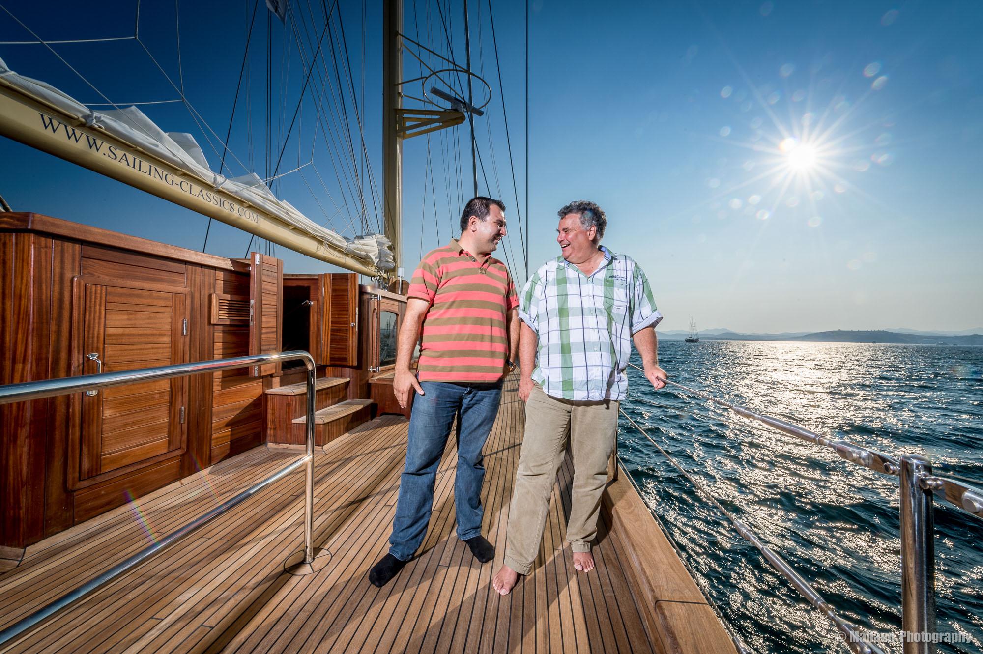 AyberkApaydın von Art Yat und Andreas Steidl-Sailers von Sailing Classics © Mallaun Photography