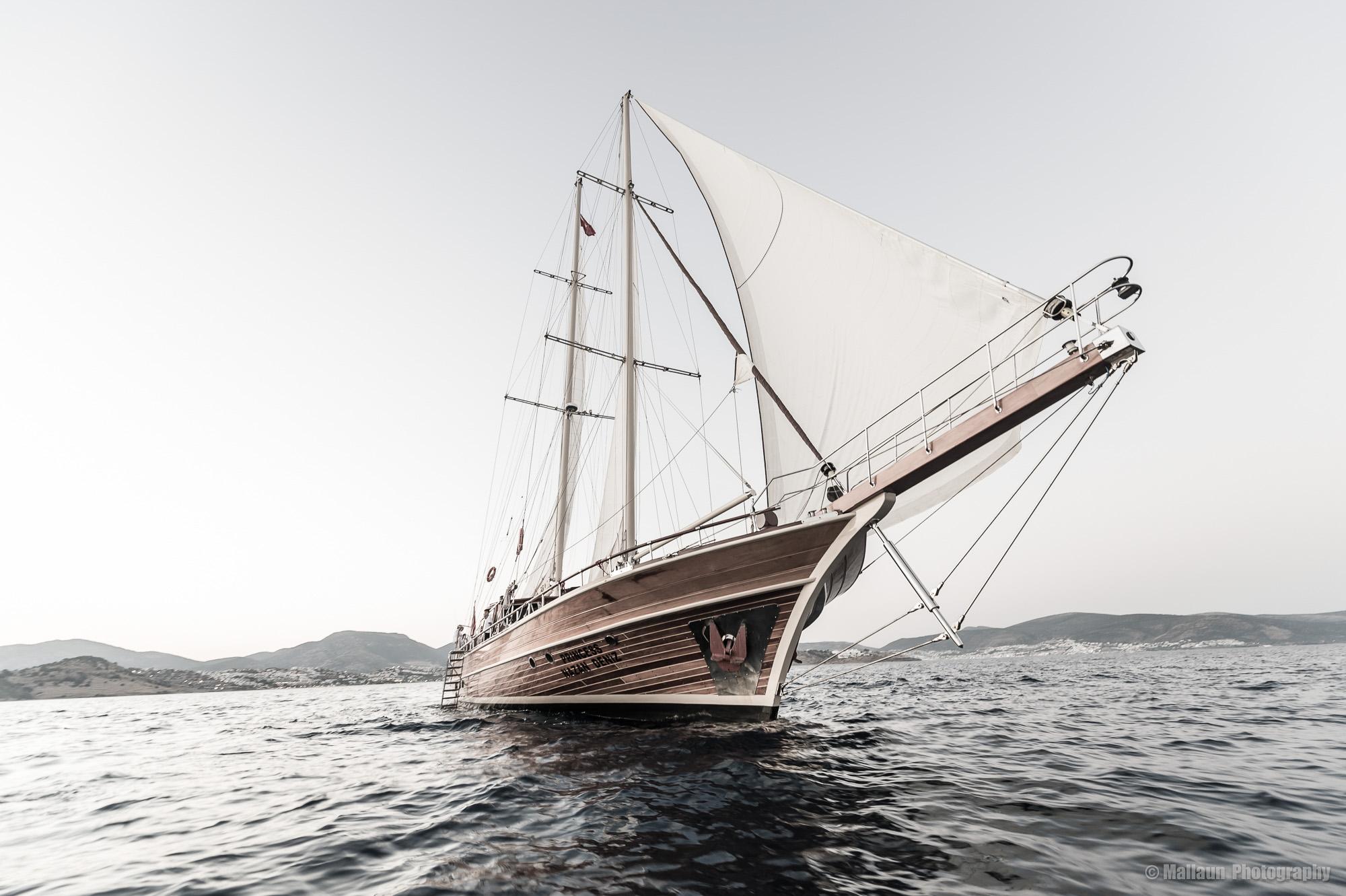 Die Princess Nazan Deniz vor ihrem Heimathafen Bodrum © Mallaun Photography