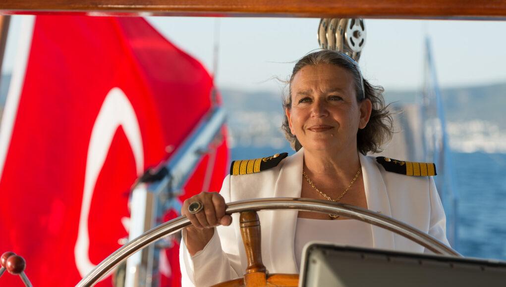 Die einzige Kapitänin der Türkei, Nazan Corta © Mallaun Photography