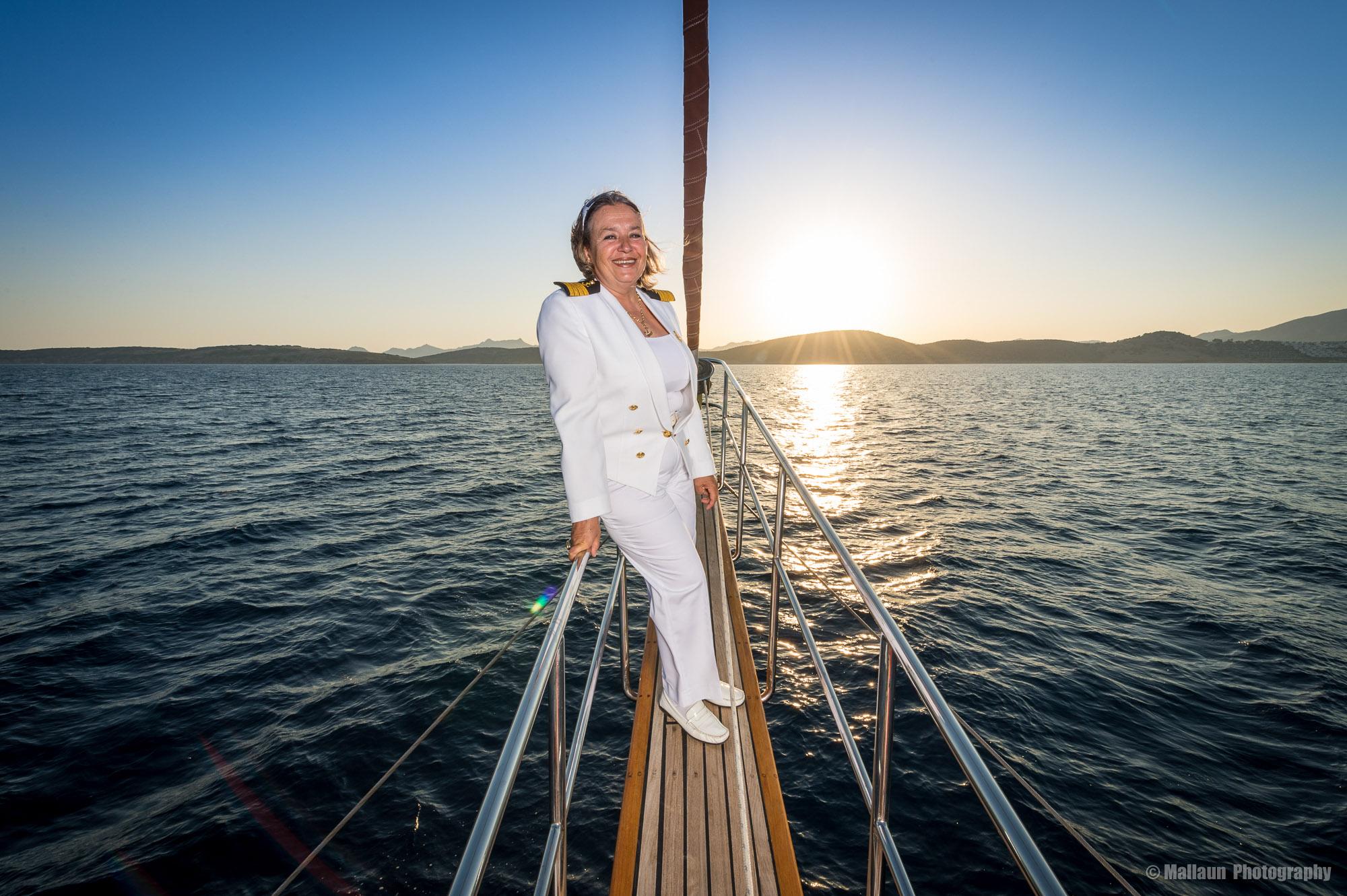 Nazan Corta ist die einzige Kapitänin der Türkei © Mallaun Photography