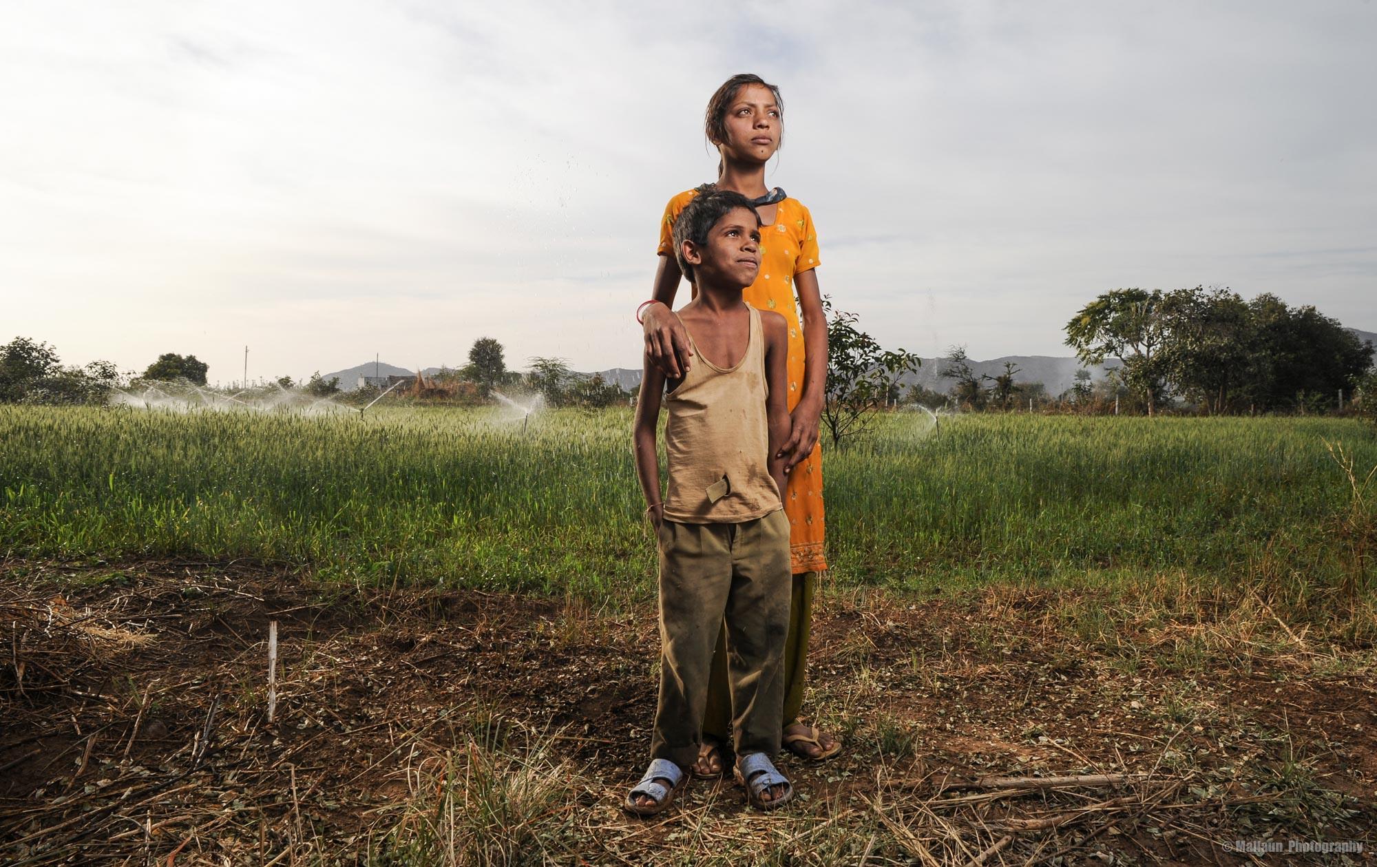Bauernkinder in Pushkar, Rajasthan Indien © Mallaun Photography