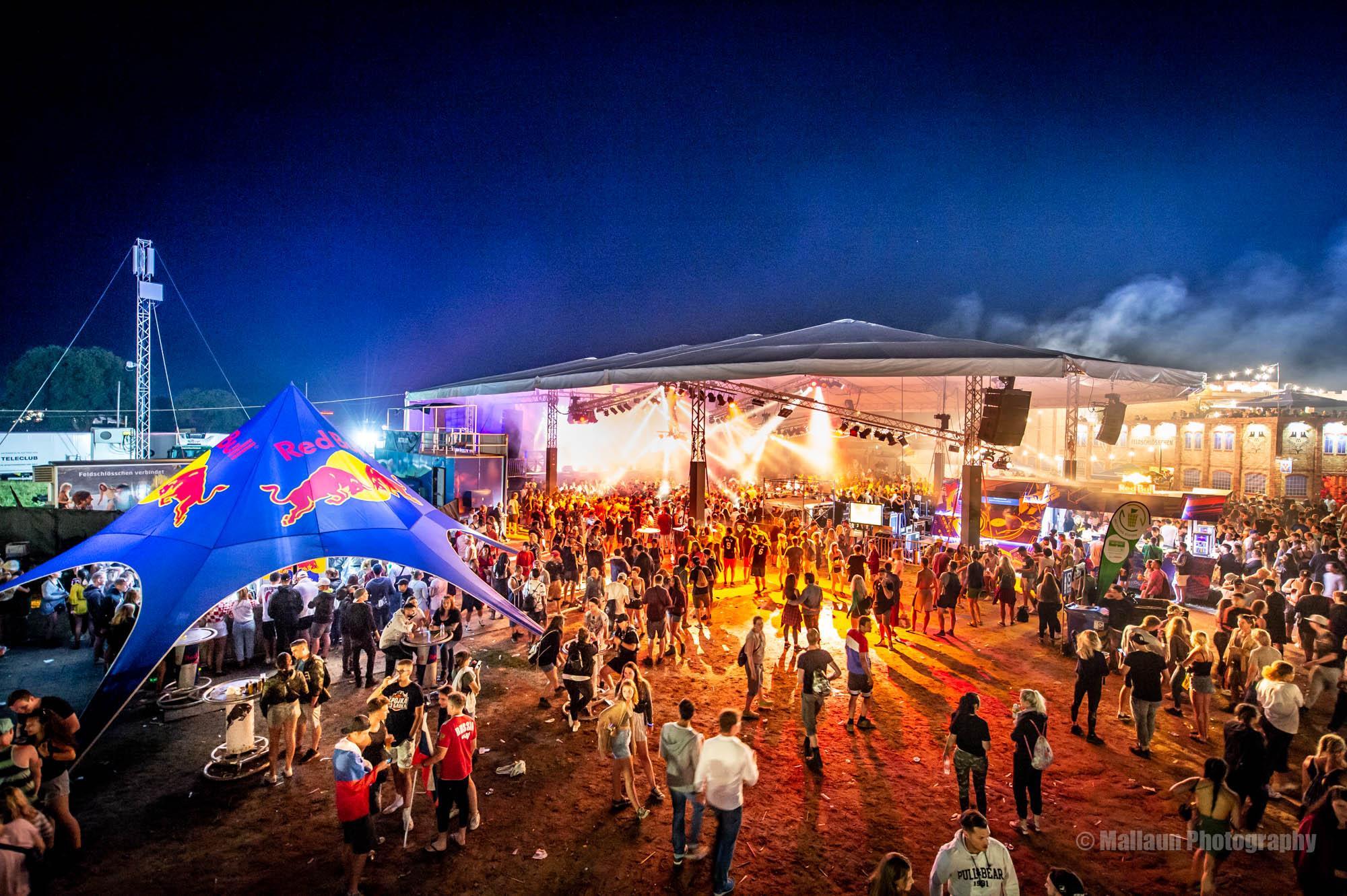 Festival Gelände Openair Frauenfeld, Hochbeinstativ 6 Meter © Mallaun Photography