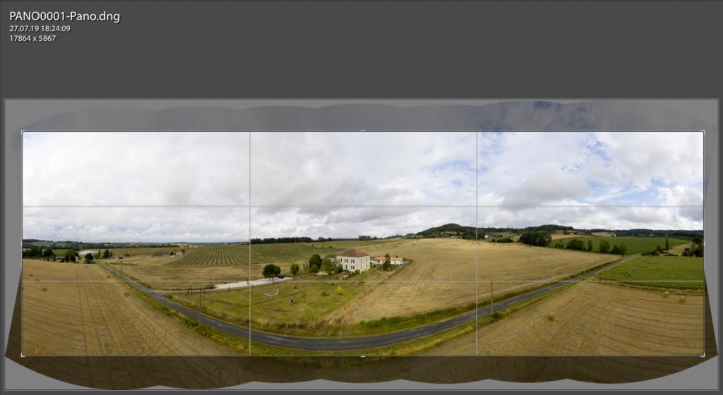 180 Grad Panorama Mavic Pro 2, auf Sichtfläche beschnitten