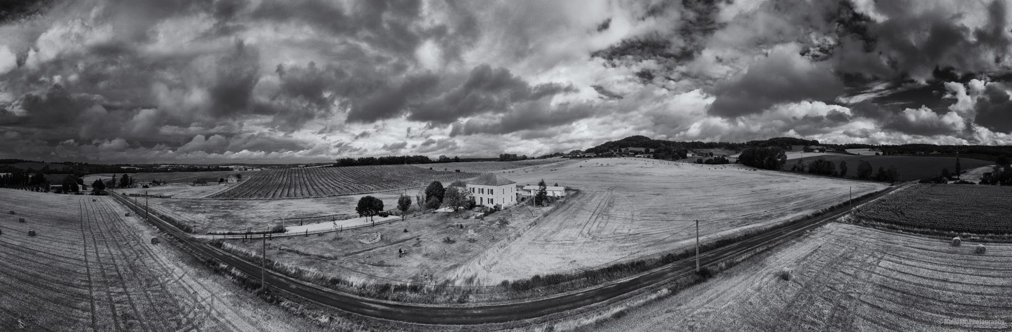 Drohnen Panorama mit Mavic Pro 2 Einstellung 180 Grad Panorama