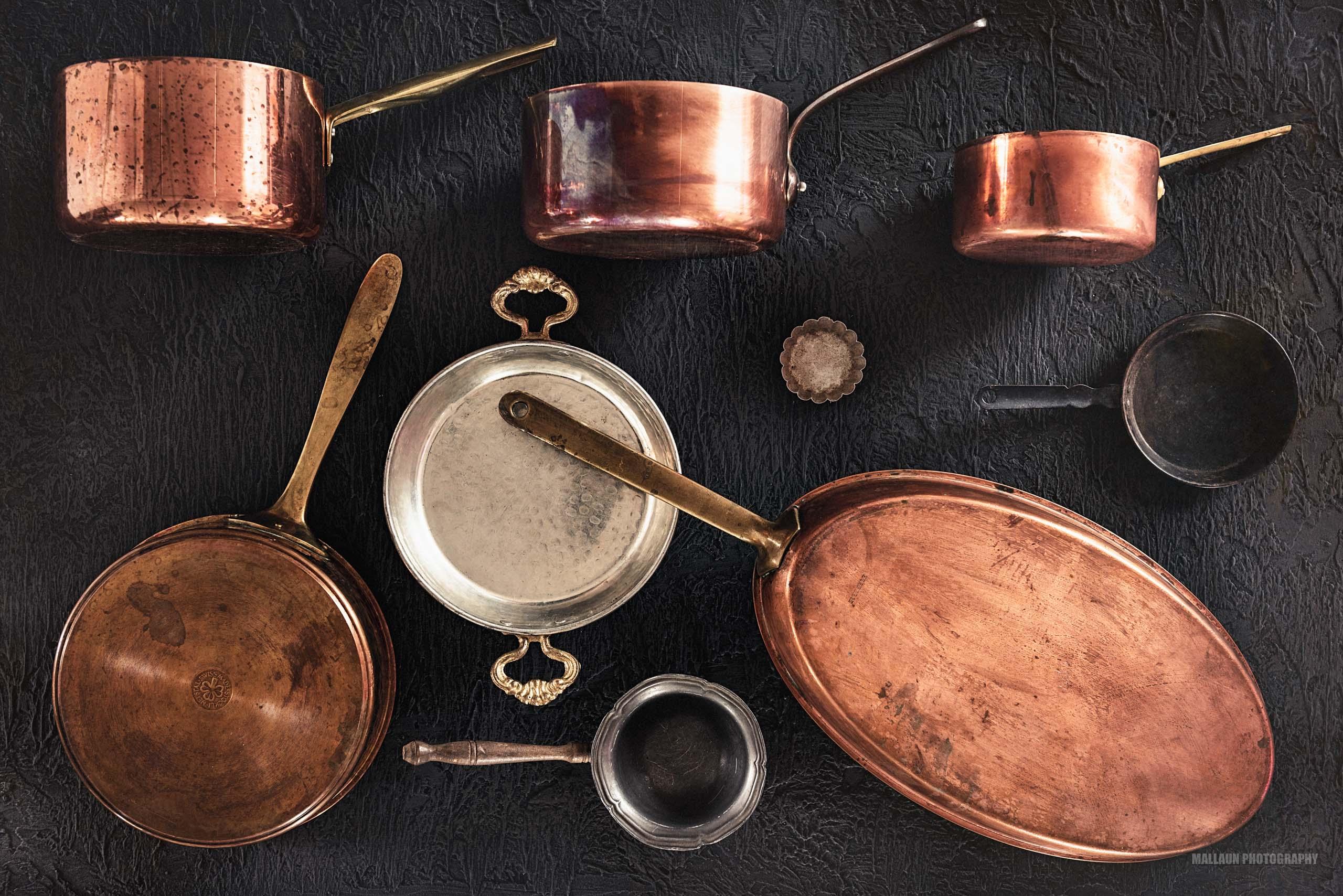 Props & Accessoires (Kupferpfannen) Teller for Food Photography